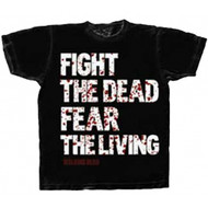 The Walking Dead Fight the Dead Fear The Living Adult T-Shirt