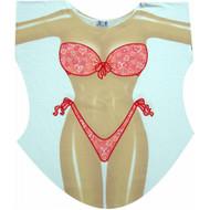 Hearts Bikini Cover up T-shirt Lady's Fun Wear