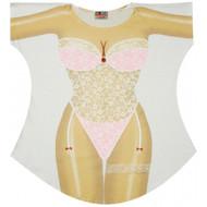 3bbfaca57e0 New Pink Lingerie Bikini Cover up T-shirt Lady s Fun Wear