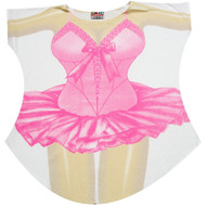 Ballerina Bikini Cover up T-shirt Lady's Fun Wear