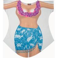 Topless Turtle Bikini Cover up T-shirt Lady's Fun Wear