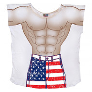 Stars And Stripes Muscle Guy Mens Coverup T-Shirt