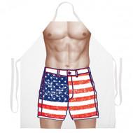 Attitude Apron - American flag shorts Apron