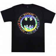 Batman The Dark Knight Gotham City Tie Dye Logo Adult T-Shirt
