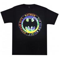 Batman The Dark Knight Gotham City Tie Dye Logo Adult T-Shirt
