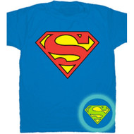DC Comics Superman Glow In The Dark Shield Logo T-Shirt