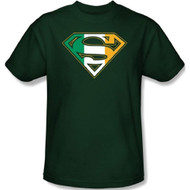 Superman IRISH SHIELD Adult T-shirt