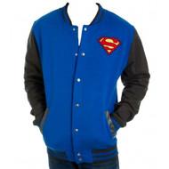 DC Comics Superman Logo Letterman Adult Jacket