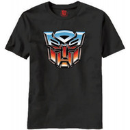 Autobot Logo Transformers Adult Black T-shirt