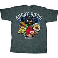 Angry Birds Circle Night Adult T-Shirt