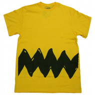 Peanuts Charlie Brown Front and Back Zig Zag Stripe T-shirt