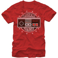 Nintendo Classically Trained Controller Adult Red T-shirt