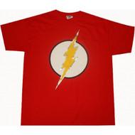 Flash Logo T-shirt Silver Foil Dc Comics