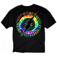 DC Comics Flash Central City Scarlet Speedster Tie-Dye Logo Adult T-Shirt