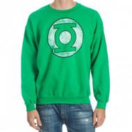 DC Comics The Green Lantern Logo Adult Crew Sweatshirt