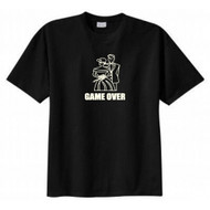 Game Over Bride Groom Married T-shirt