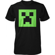 Minecraft Creeper Glow in the Dark Face Adult T Shirt