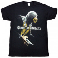 Mortal Kombat X-Cover Box Adult T-shirt