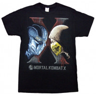 Mortal Kombat Subzero & Scorpion Face To Face Adult T-shirt