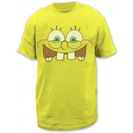 Sponge Bob Excited Face Adult T-shirt