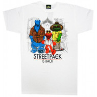Sesame Street The Streetpack Is Back White T-shirt