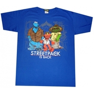 Sesame Street The Streetpack Is Back Blue T-shirt