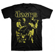 The Doors Live Neon Yellow Adult T-Shirt