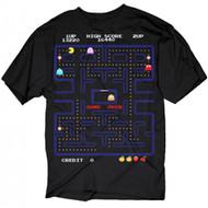 Pac-Man Screenshot Game Over Adult T-Shirt