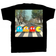 Pac-Man Abbey Road Crossing Adult T-Shirt