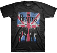 The Beatles Union Jack Photo Adult T-Shirt