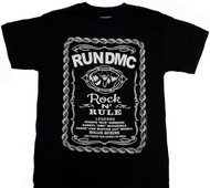 Run DMC - Rock and Rule Whiskey Label Adult T-Shirt