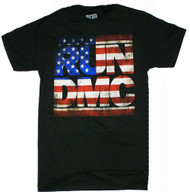 Run DMC - Distressed American Logo Adult T-Shirt