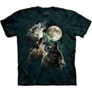 Three Wolf Moon Tie Dye Adult T-shirt