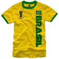 FIFA World Cup Soccer Brasil Ringer T-Shirt