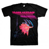 Black Sabbath Paranoid Motion Trails Adult T-shirt