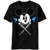 Disney Epic Mickey Mouse Power of Two Both Brushes Adult T-shirt