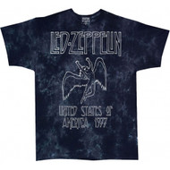 Led Zeppelin USA Tour 1977 Tie Dye Adult T-Shirt