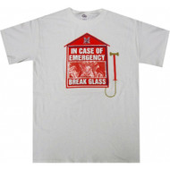 In Case of Emergency Break Glass T-shirt Real Condom Inside