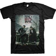 Eminem Bad Meets Evil Burnt  Adult T-Shirt