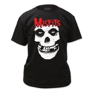 The Misfits Skull Logo Red Letters Adult T-shirt