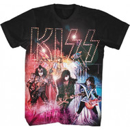 KISS Live Fireworks Group Photo Adult T-Shirt