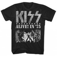 Kiss Alive in '75 Adult T-Shirt