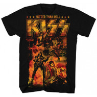 KISS Hotter Than Hell Adult T-Shirt