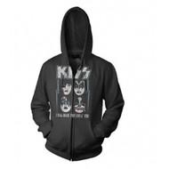 Kiss I Was Made For Lovin You Zip Hoodie Sweatshirt