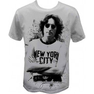 John Lennon Famous New York City Image T-shirt