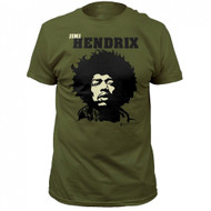 Jimi Hendrix Close Up Adult T-Shirt