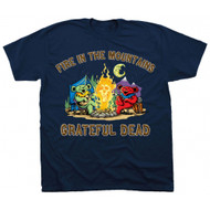 Grateful Dead Fire in the Mountains Adult T-shirt