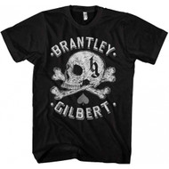 Brantley Gilbert Skull Adult T-Shirt