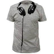 Headphones big print subway fitted Costume T-shirt