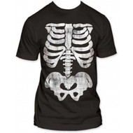 X-ray Skeleton Bones Subway Adult T-shirt